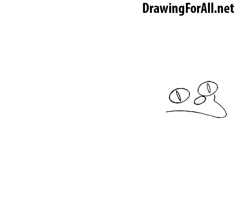 How to Draw Snowball the cat from the Simpsons