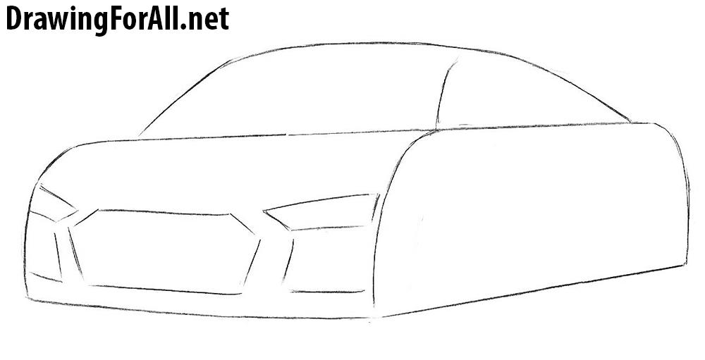 how to draw an audi sportcar