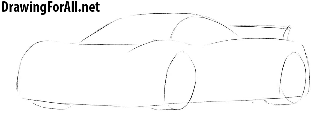 learn how to draw a pagani huayra step by step