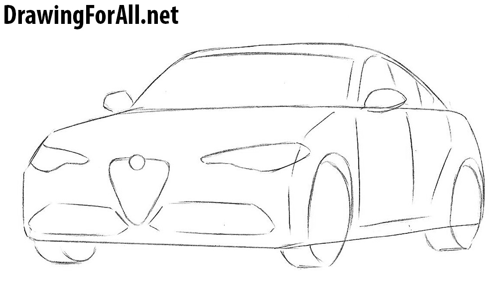 learn how to draw an alfa romeo step by step