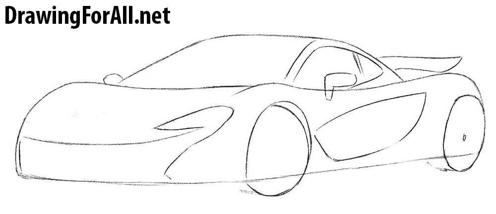learn to draw a McLaren P1