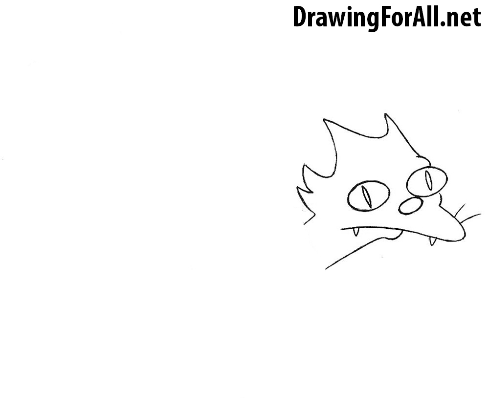 how to draw a cat from simpsons