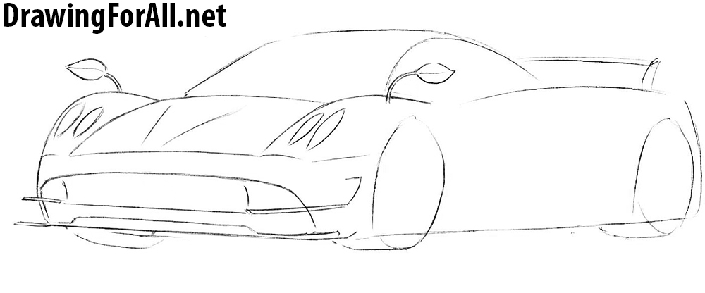 learn to draw a pagani huayra