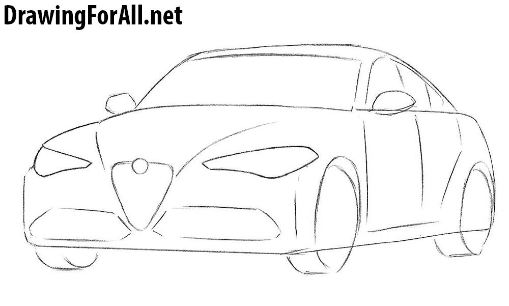 learn to draw an alfa romeo