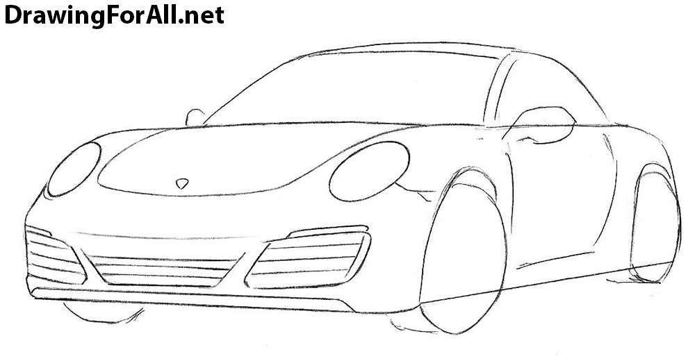 how to draw a  Porsche 911 sport car