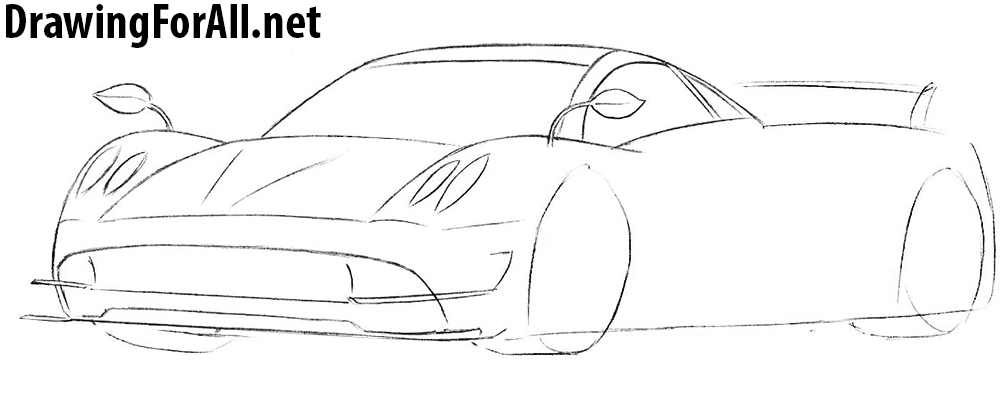 learn how to draw a pagani huayra