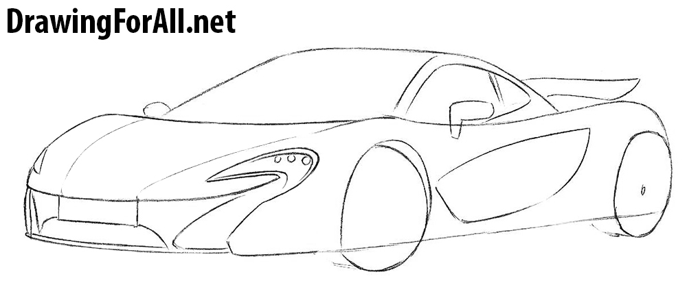 learn to draw a McLaren P1 drawing tutorial