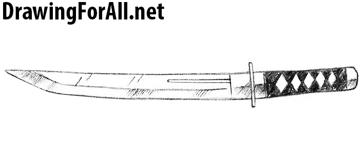 how to draw a Tanto