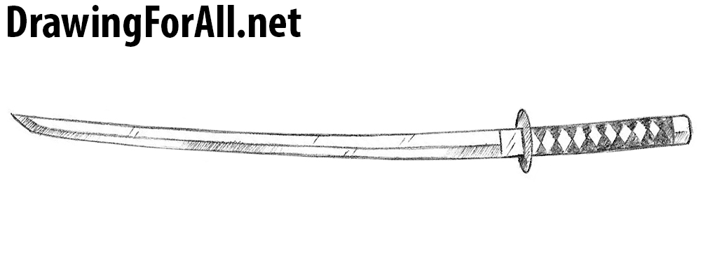 How to Draw a Wakizashi | DrawingForAll.net