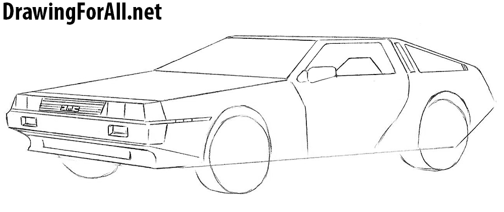 car spoiler drawing