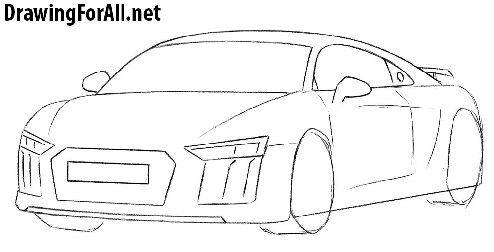 learn to draw an audi