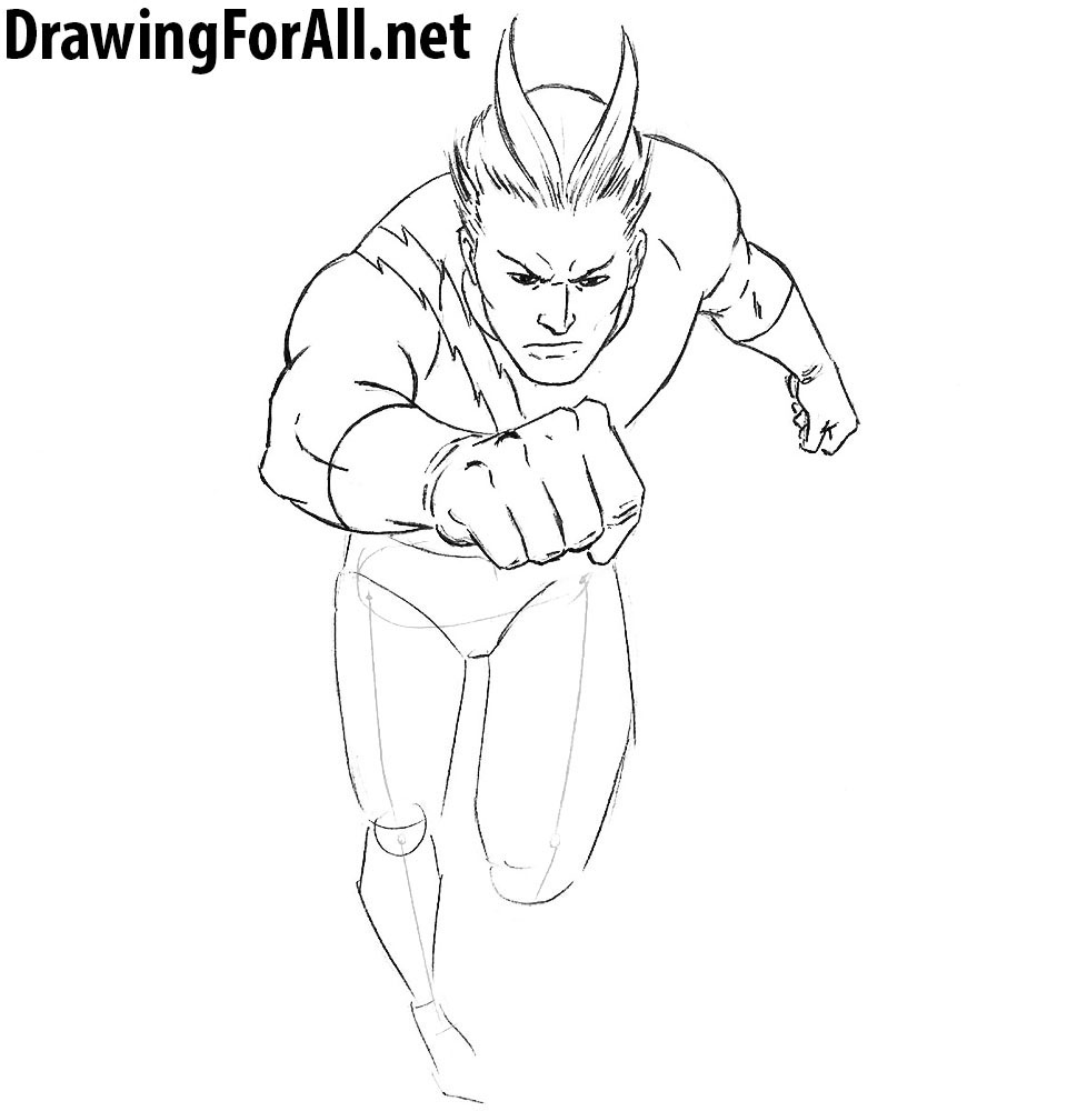 How to Draw Quicksilver from marvel
