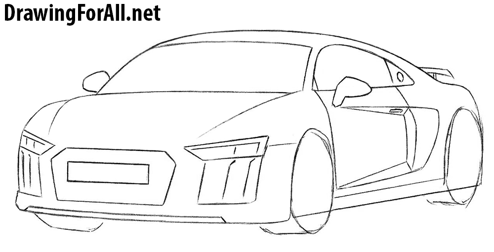 How To Draw An Audi R8 Drawingforall Net