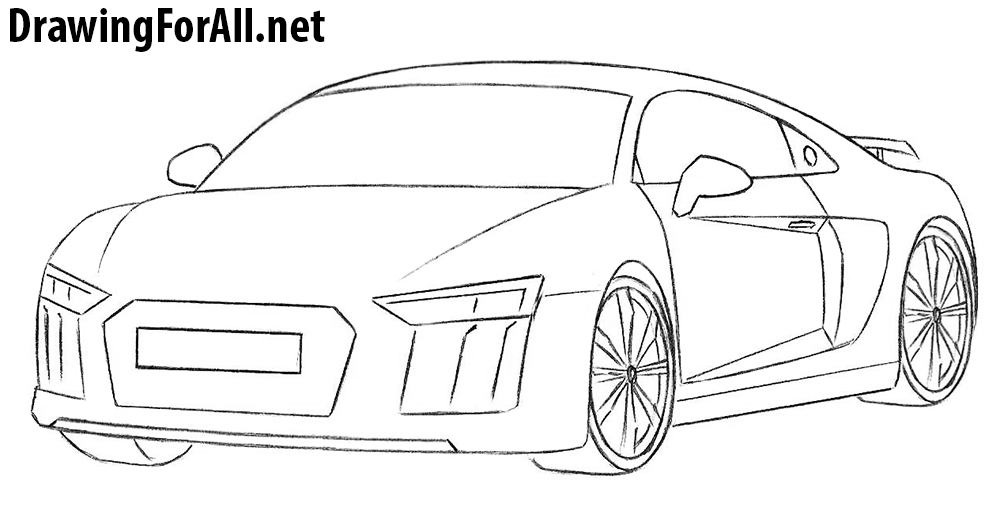 How To Draw An Audi R DrawingForAllnet - Audi car drawing