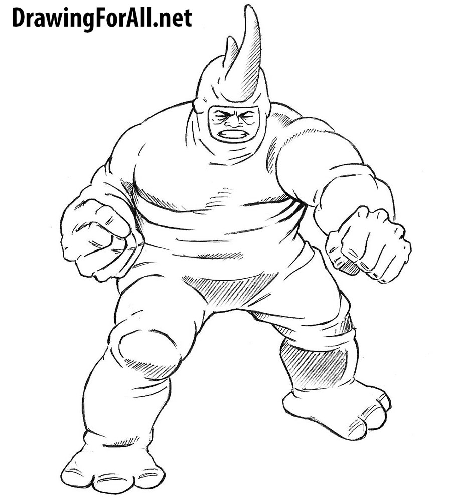 how to draw rhino from spider-man