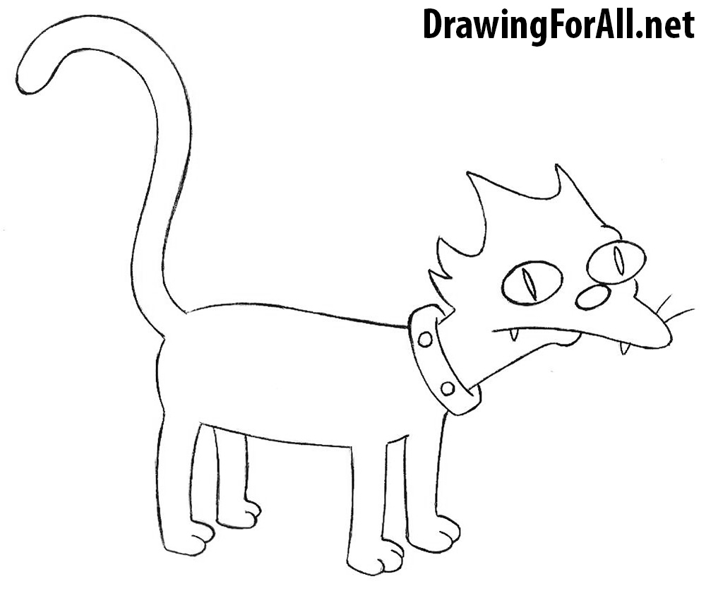 How to Draw Snowball from the Simpsons