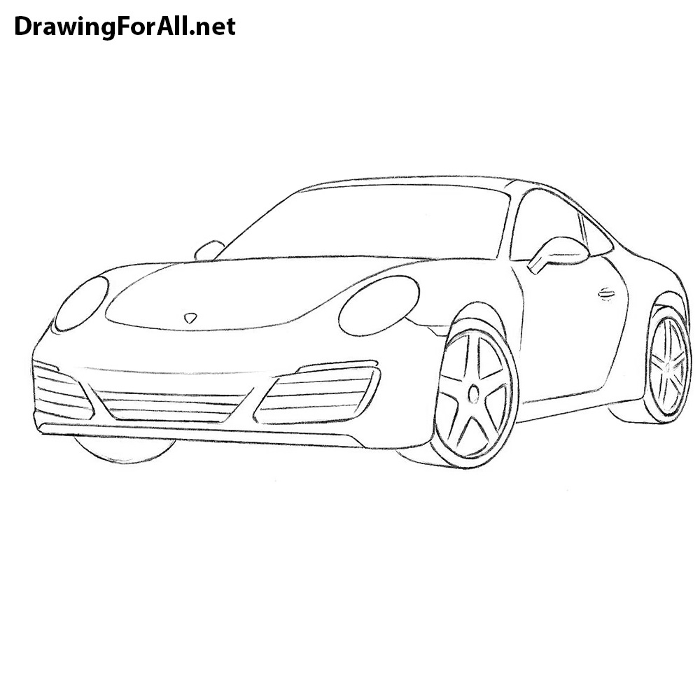 How To Draw A Porsche 911 Drawingforall Net
