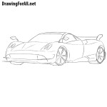 How to Draw Pagani Huayra
