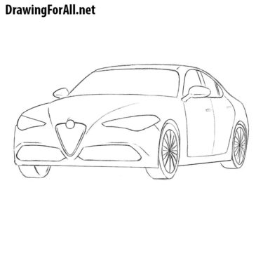 How to Draw an Alfa Romeo