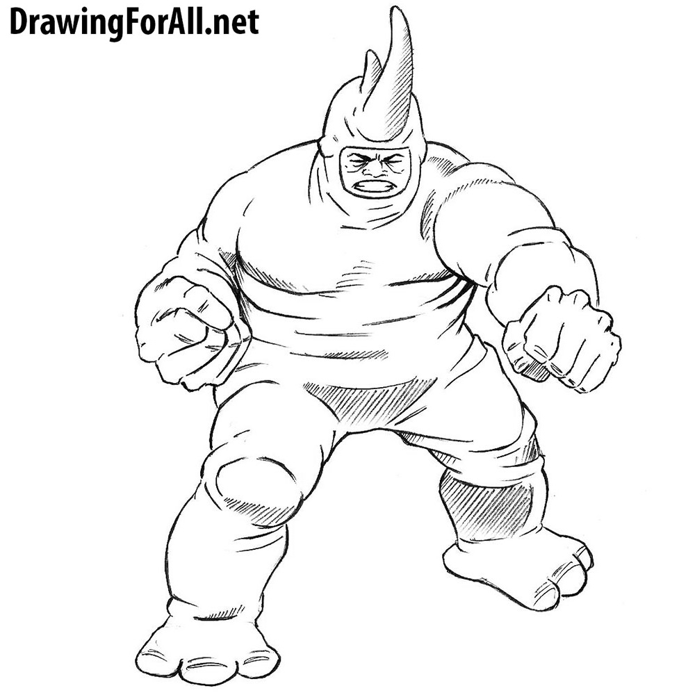 How to Draw Rhino from Marvel DrawingForAll