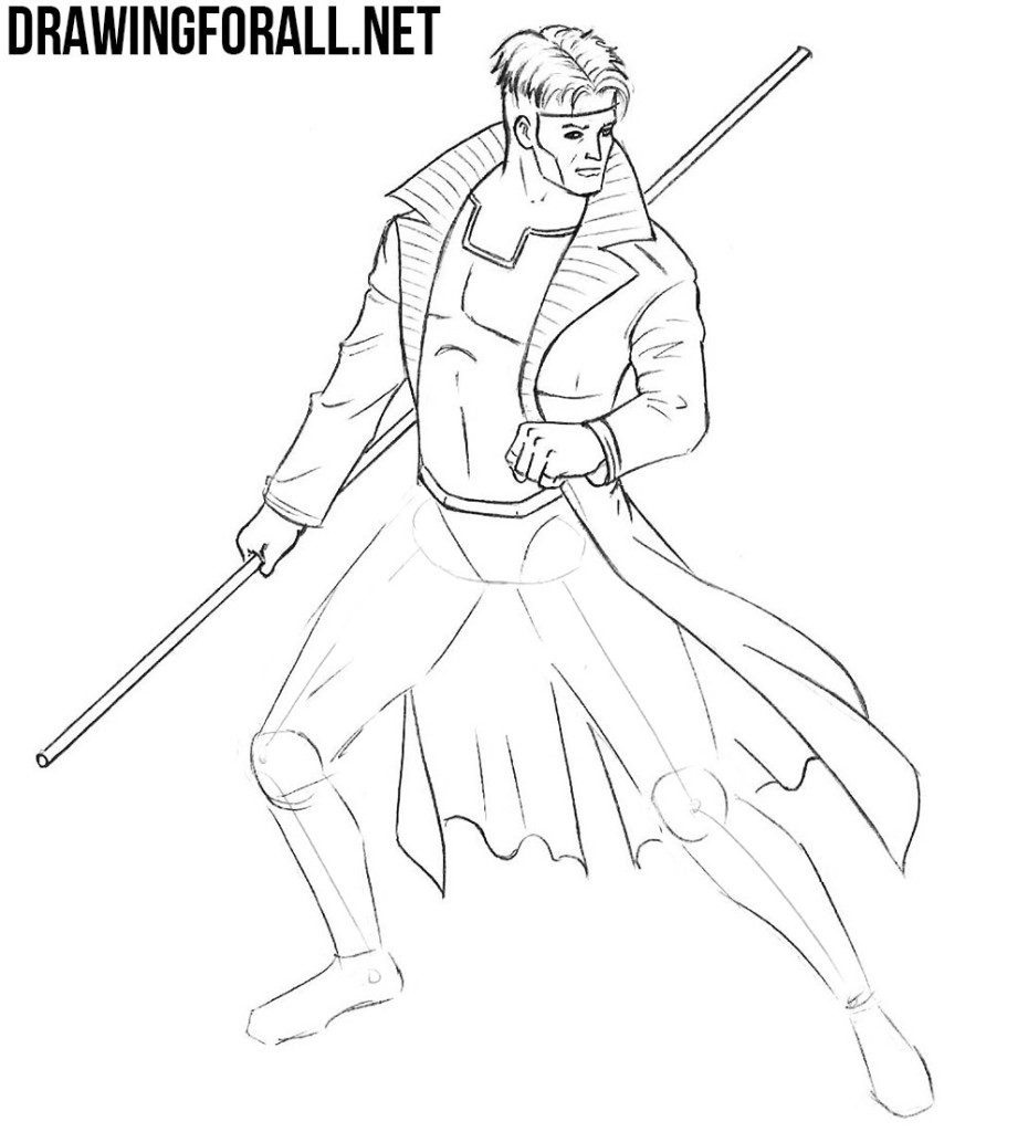 Learn to Draw Gambit from X Men