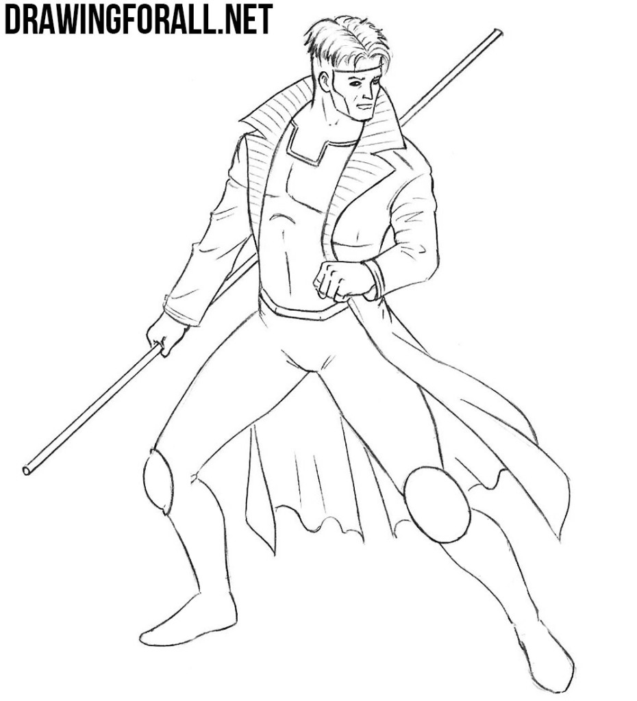 How To Draw Gambit Drawingforall Net