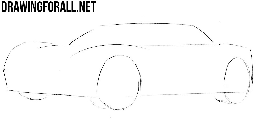how to draw a sport car