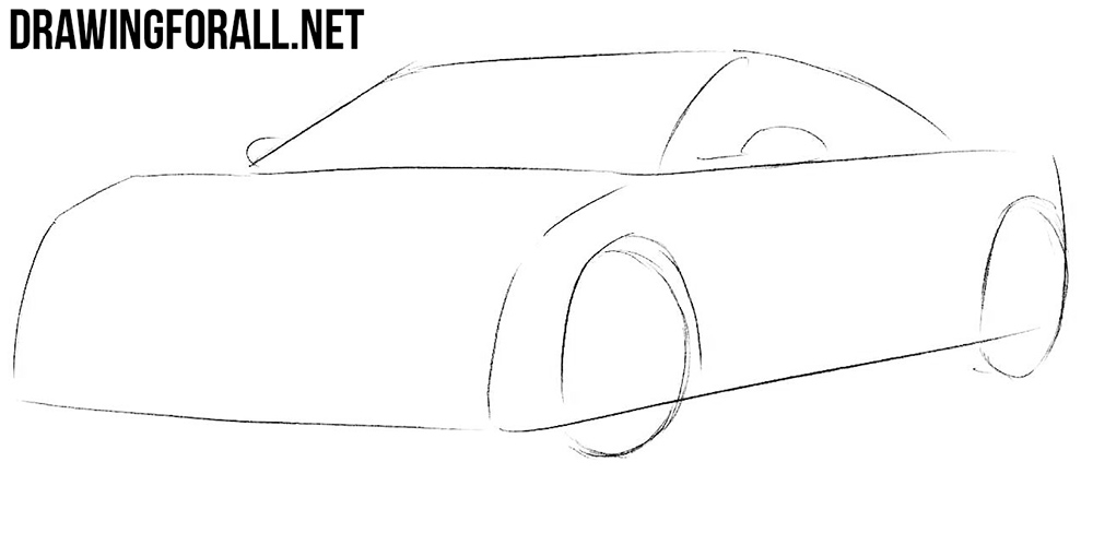 learn to draw a Honda nsx