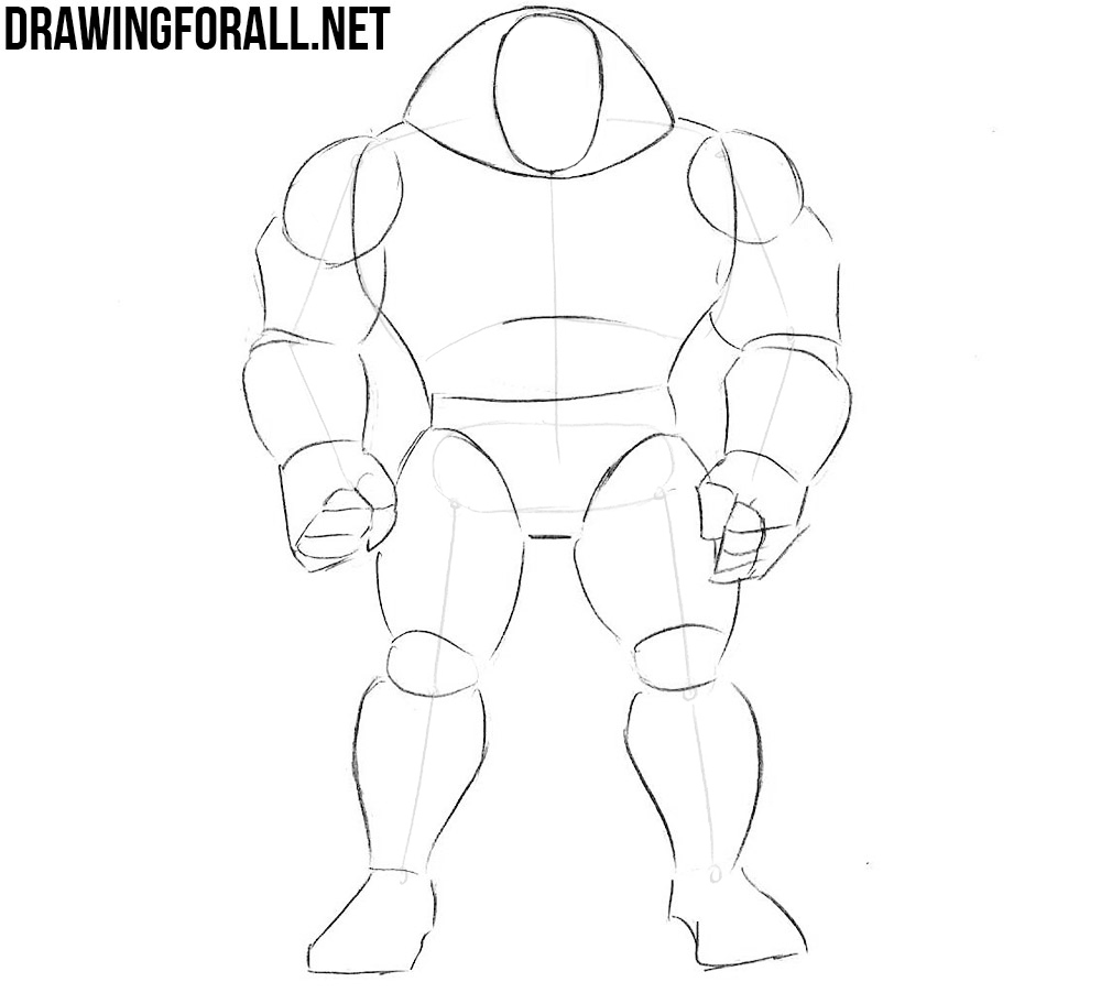 how to draw Juggernaut from marvel comics