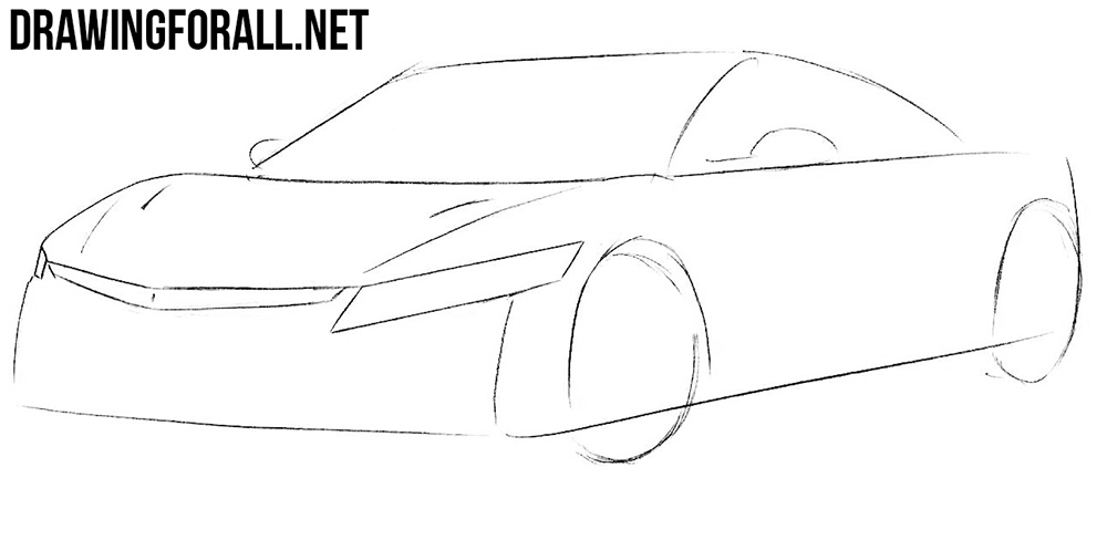 learn how to draw a Honda nsx