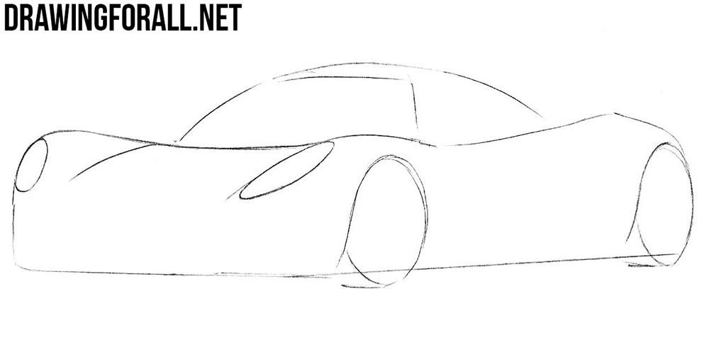 learn to draw a hennessey venom sport car