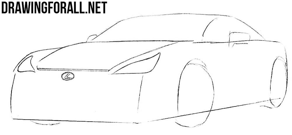 learn to draw a lexus lfa