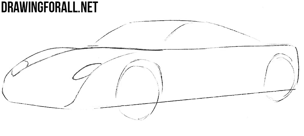 learn to draw a spyker c12