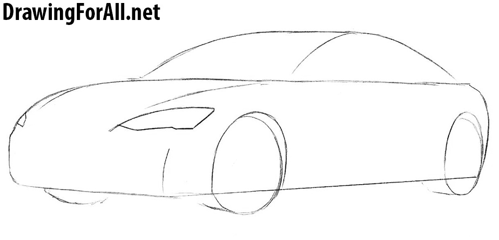 tesla model s how to draw
