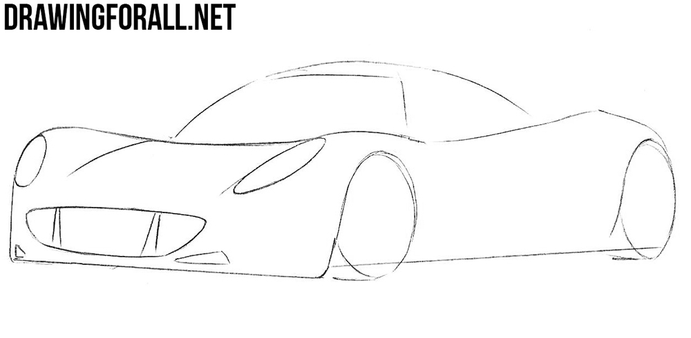 how to draw a sportcar