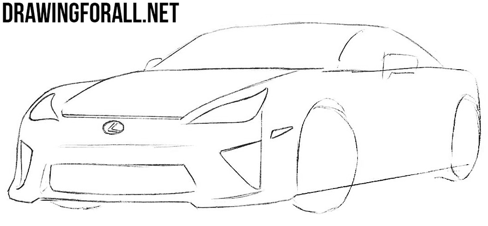 lexus lfa drawing tutorial