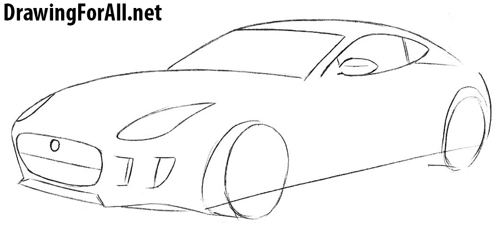 how to draw a jaguar f type