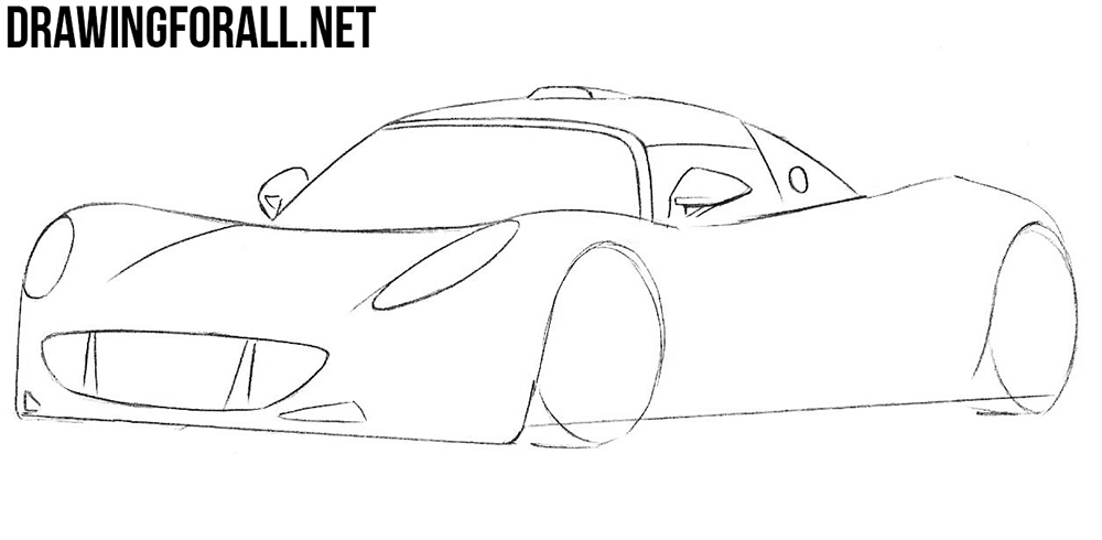 hennessey venom drawing tutorial