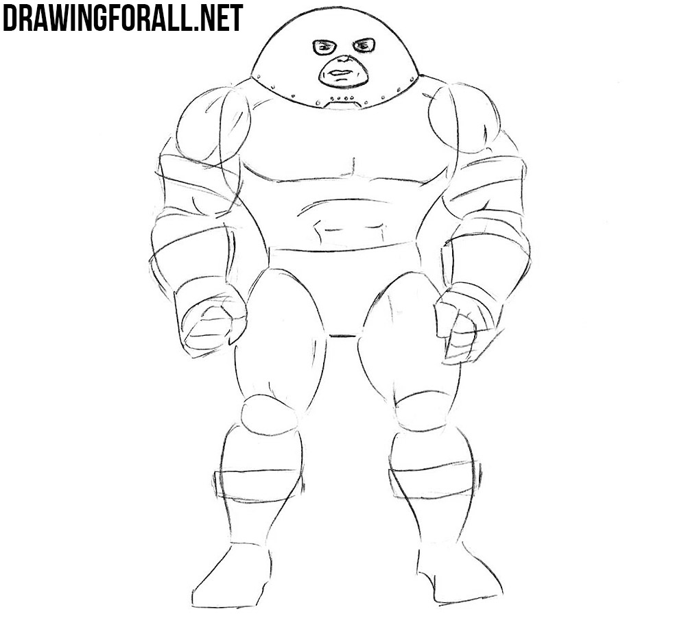 how to draw Juggernaut with a pencil