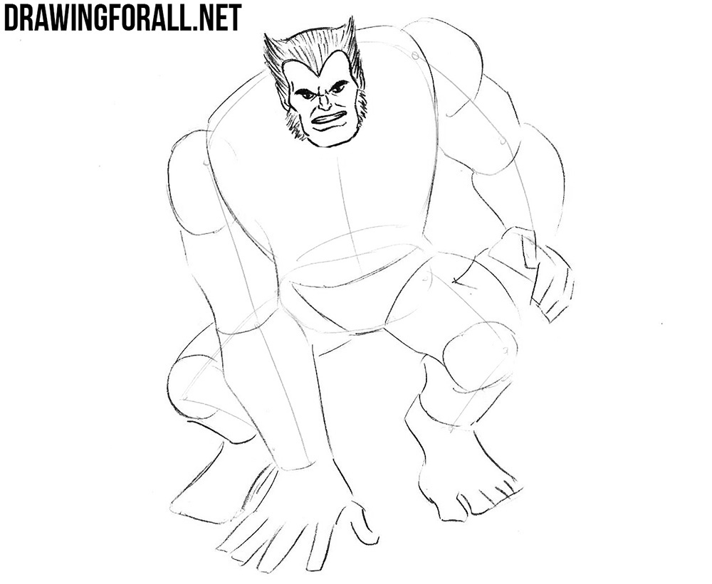 how to draw Beast from x men