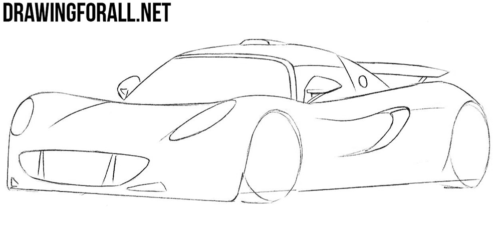 learn how to draw a hennessey venom step by step