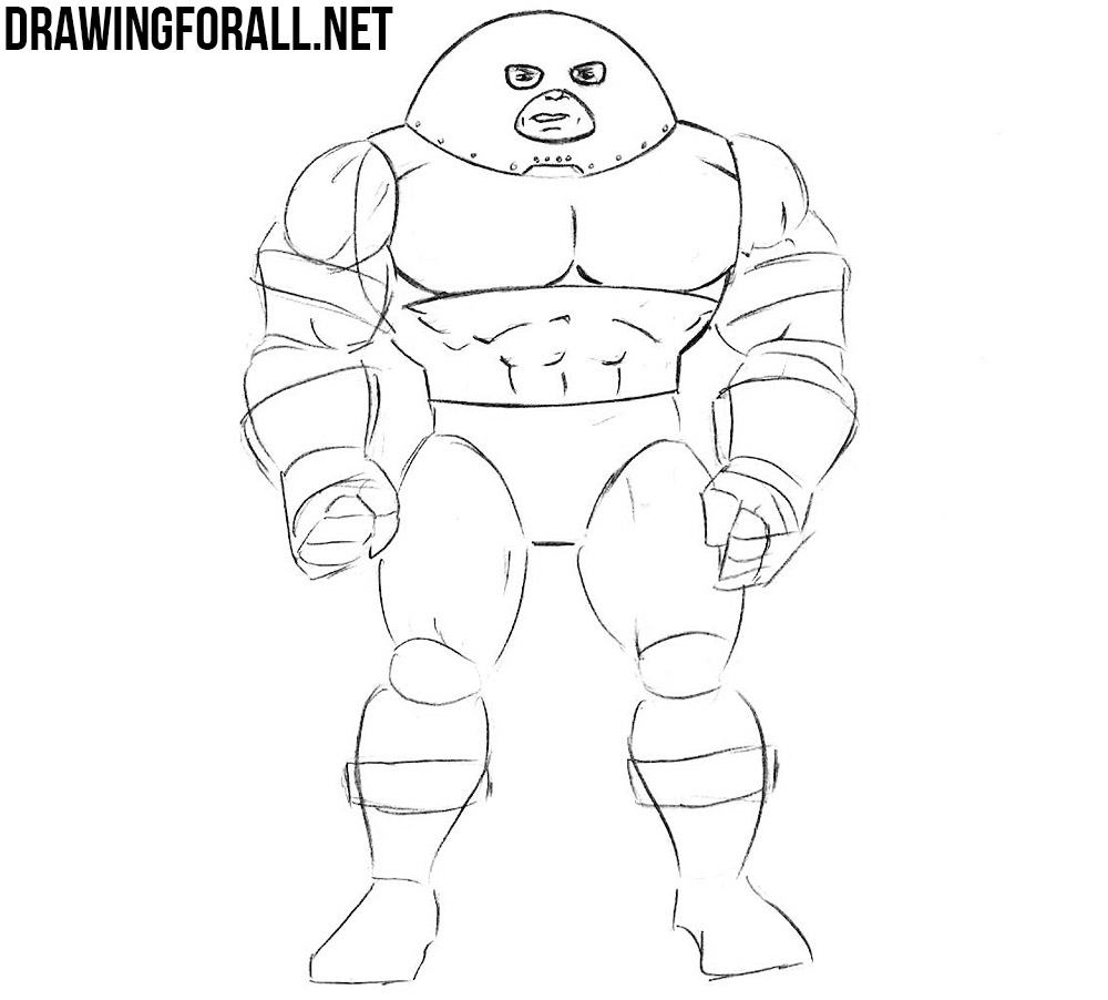 learn to draw Juggernaut step by step