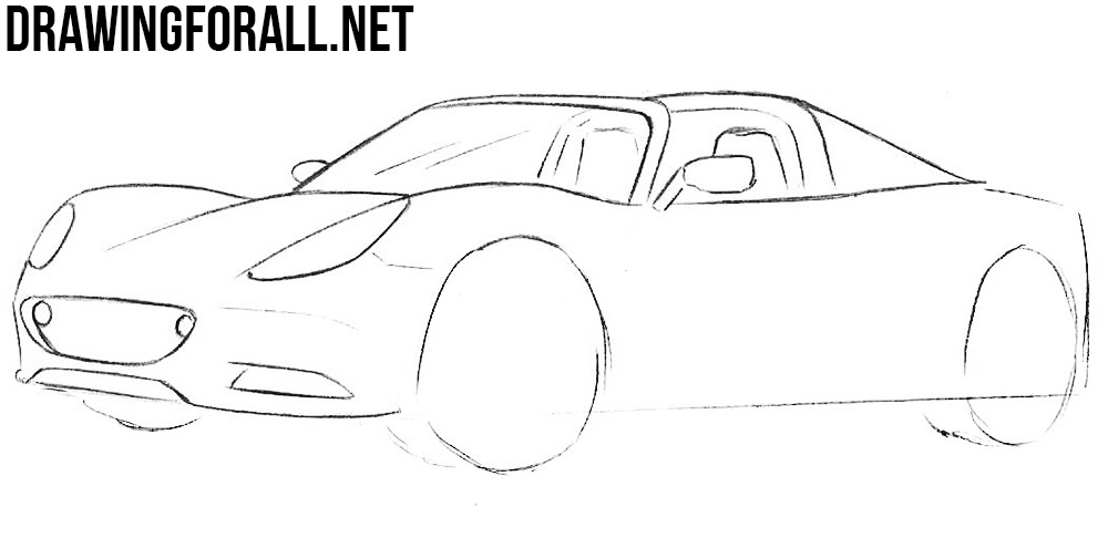 learn to draw a How to Draw a Lotus Elise