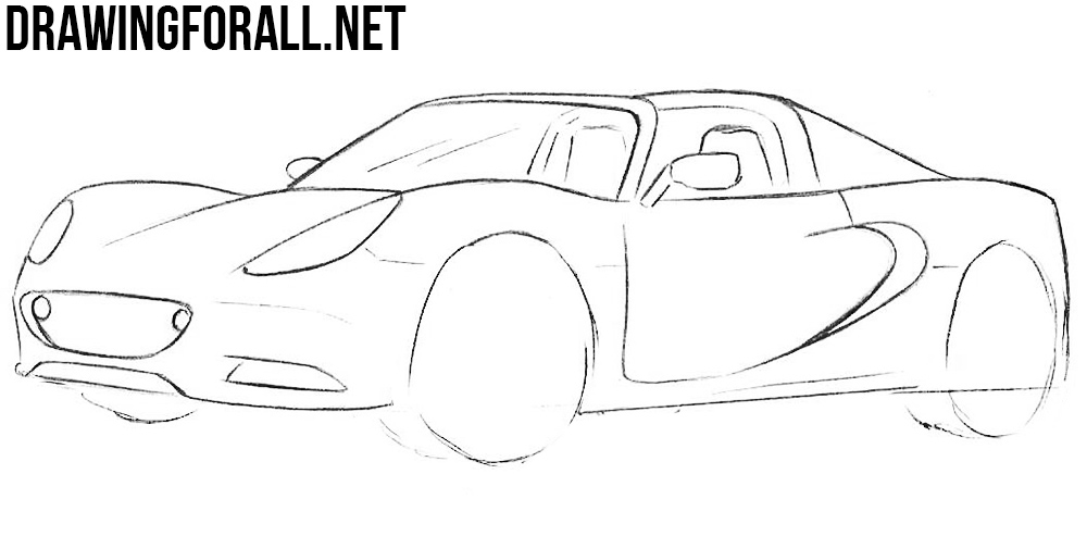 How to Draw a Lotus Elise drawing tutorial