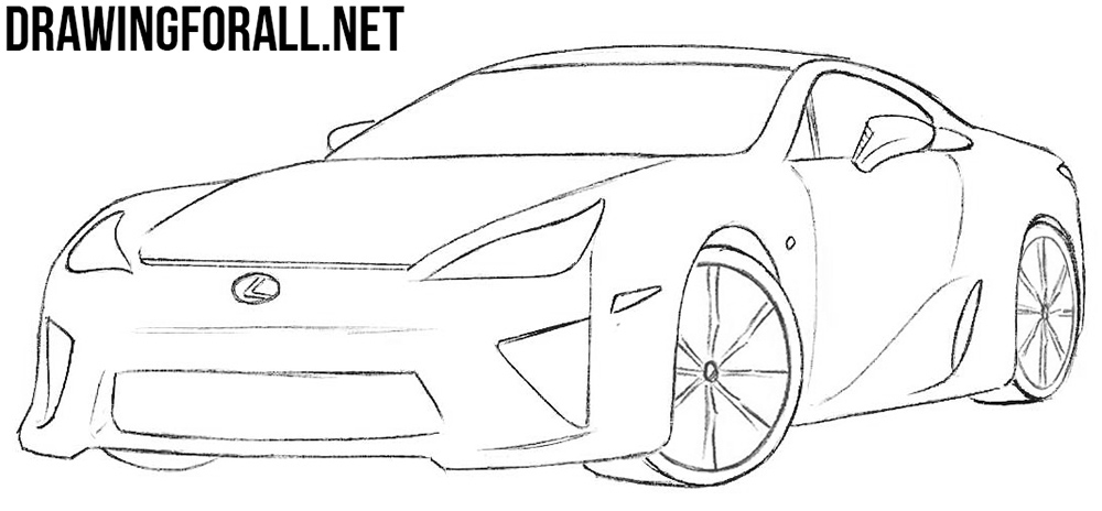 learn how to draw a lexus lfa