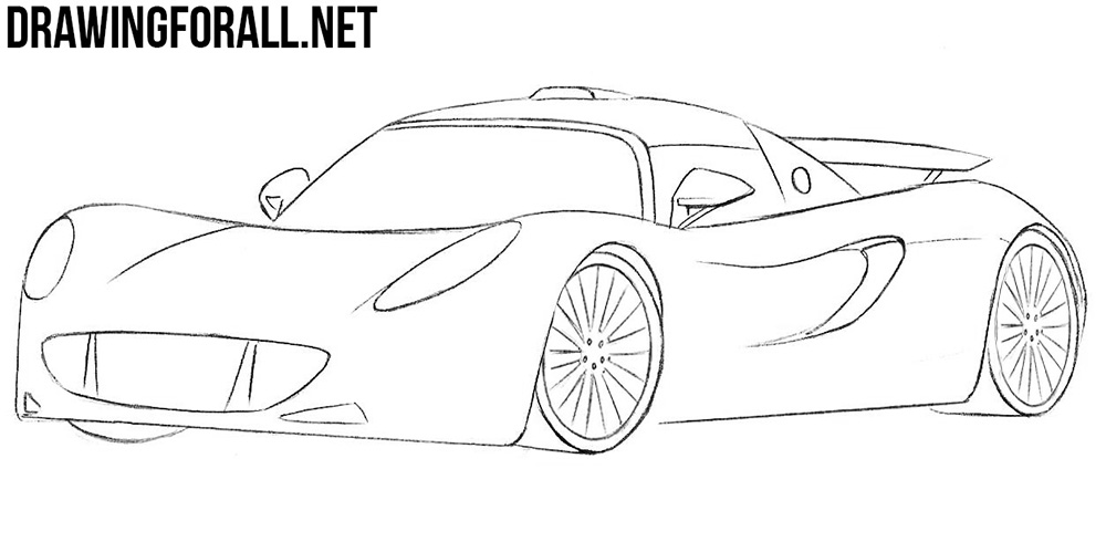 learn to draw a hennessey venom
