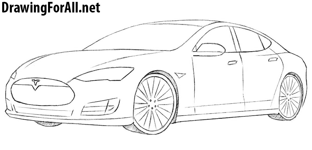 How To Draw A Tesla Model S Drawingforall Net