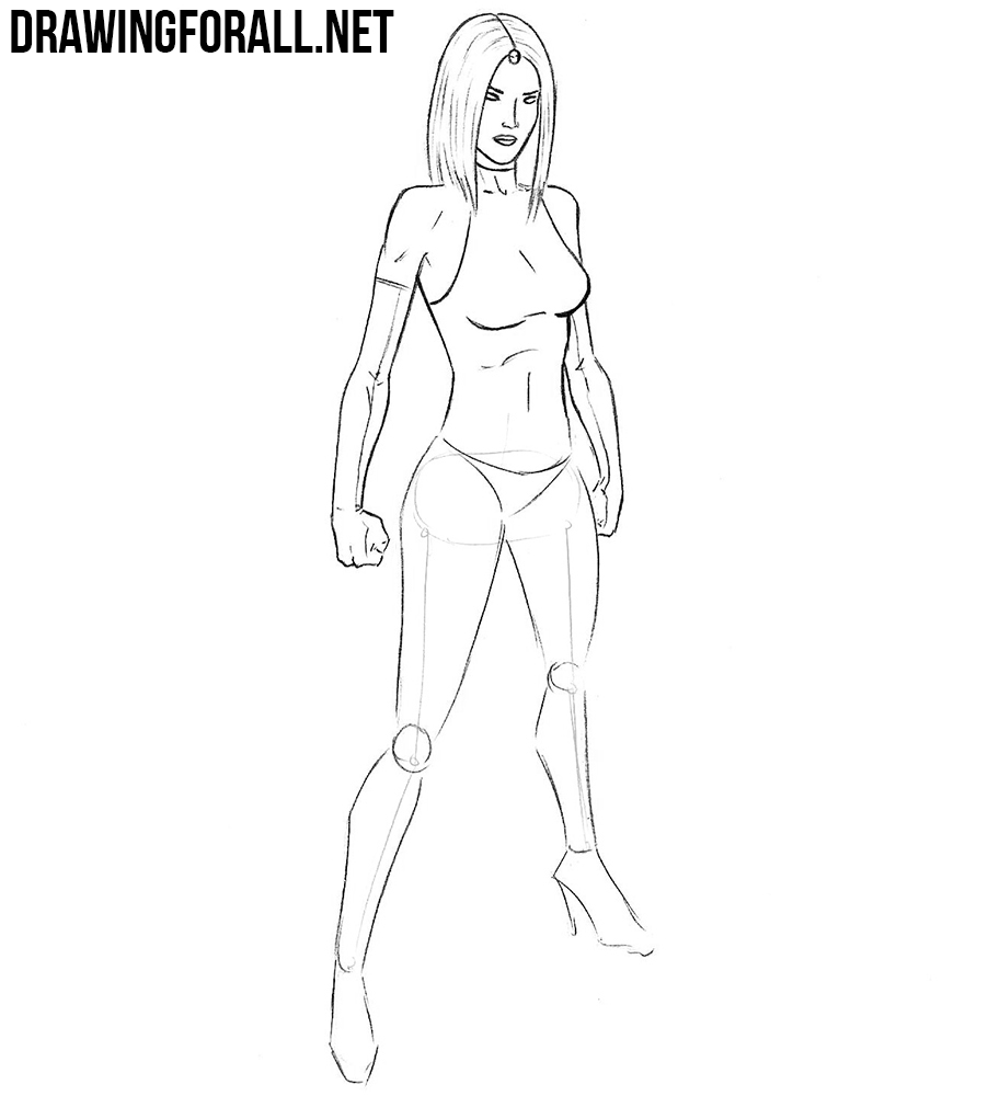 how to draw mystique from x men