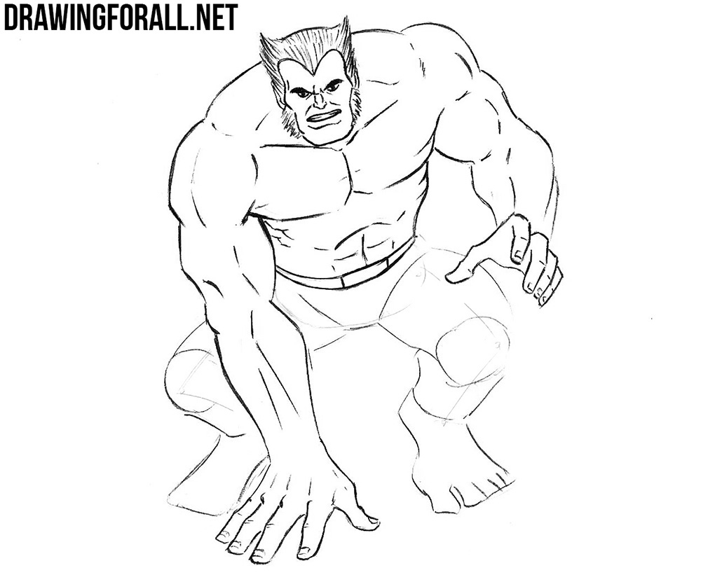 learn to draw Beast from xmen