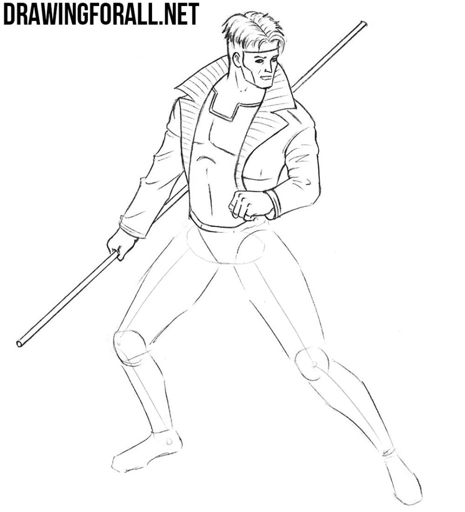 learn how to draw Gambit for marvel